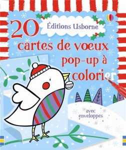 20 cartes de voeux pop up à colorier