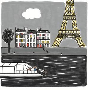 En route pour la tour Eiffel