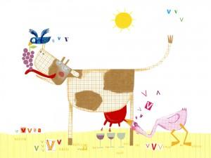 vache a vin