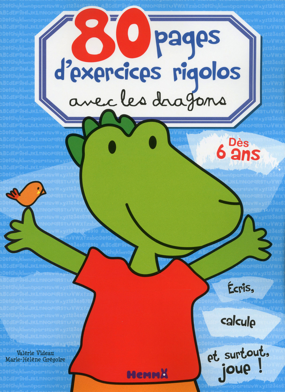 80 pages d'exercices rigolos avec les dragons
