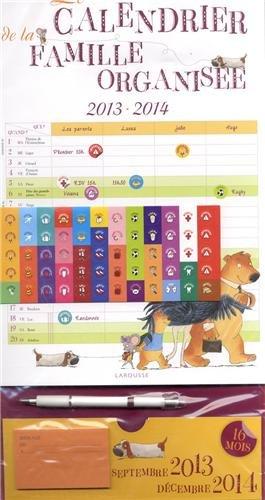 Le calendrier de la famille organisee