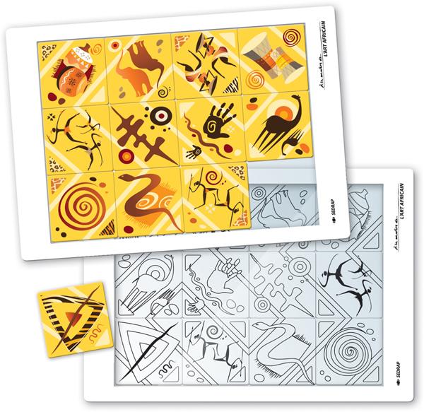 puzzle art africain