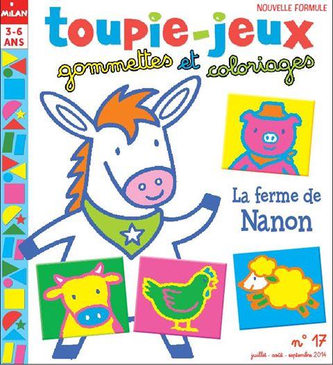 Toupie-jeux gommettes et coloriages, n° 17