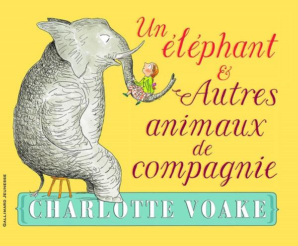 un éléphant et autres animaux de compagnie